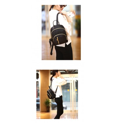 Elegant Black Small Light Weight Ladies Backpack