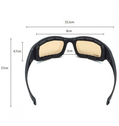 4 Lenses UV Protection Polarized Tactical Sunglasses with Tightening Strap
