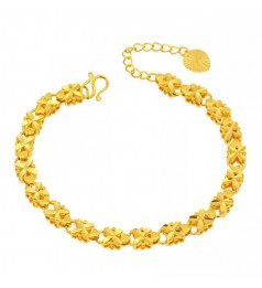 Emas Korea 24k Gold Plated Clover Design Ladies Bracelet