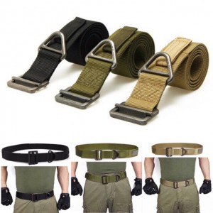 Military Combat Rescue Outdoors Nylon Tactical Belt for Men