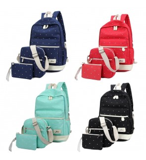 Taiwan Ladies Fashion 3 Pieces Bagpack Sets