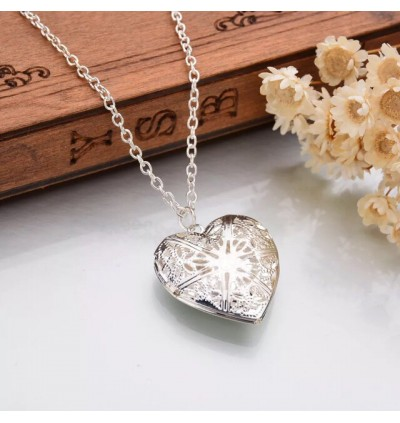 Gold And Silver Plated Photo Pendant Necklace