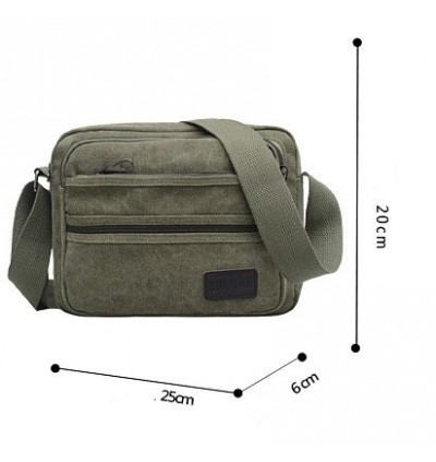Easy Matching Casual Style Small Canvas Sling Bag