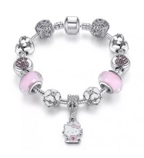 Hello Kitty Charm Beads Bracelet