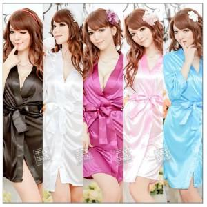 Soft Silky Lingerie Nightwear Robe