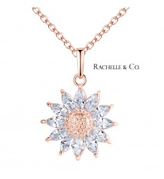 Rachelle & Co Sun Flower Pendant and Necklace Set