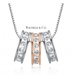 Rachelle & Co Triple Ring Pendant and Necklace Set