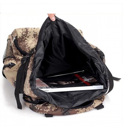 90L Large Capacity Military Camouflage Hiking Backpack