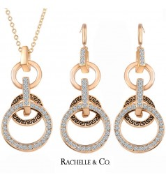 Rachelle & Co Crystal Necklace and Earring Set ( D1)
