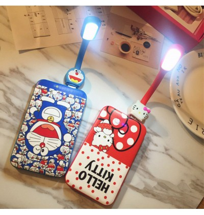 5-in-1 Powerbank Gift Set With Free Selfie Stick LED Lights Holder