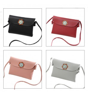 TonyaMall Flower Design PU Sling Bag