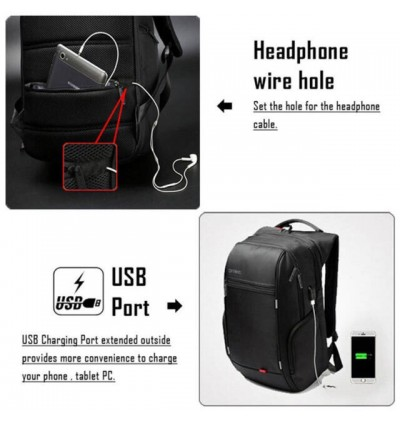 """DTBG 15.6"""" and 17"""" Anti Theft Laptop Backpack with USB Charging Port"""