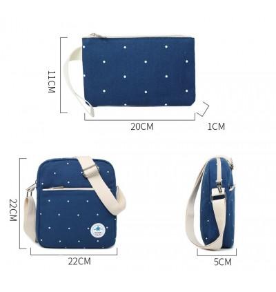 Ladies 2 in 1 Canvas Sling Bag