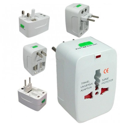 Universal Adapator For Travellers. Worldwide Compatible