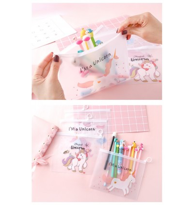 Magical Unicorn and Panther Design Stationery Organizer Pouch