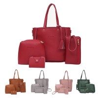 TonyaMall Ladies 4 in 1 PU Leather Bag Set