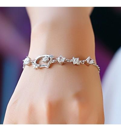 Natural Crystal Hello Kitty Design Hand Bracelet [Free Box]