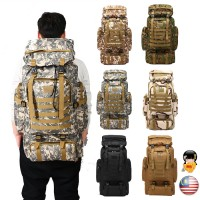 80L Military Large Backpack Outdoors Hiking Camping Travel Bags