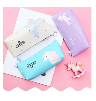 TonyaMall Unicorn Pink Panther and Flamingo Soft Pencil Case