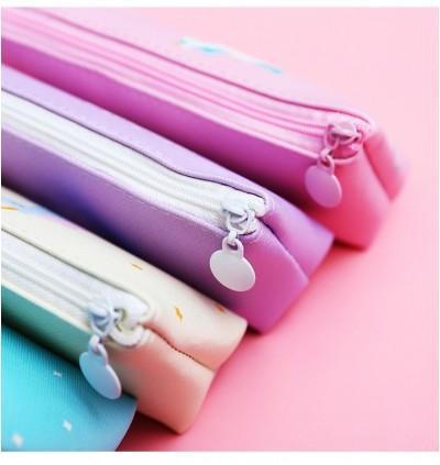 TonyaMall Unicorn Pink Panther and Flamingo Soft Pencil Case