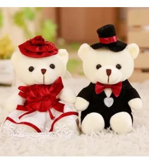 TonyaMall Soft Toys Couple Bear Set. Suitable for wedding use