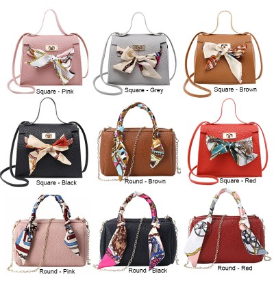TonyaMall Scarf & Ribbon Mini Handbag/ Sling bag Series