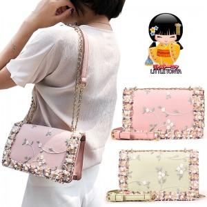 TonyaMall Floral & Beads Ladies Handbag / Sling Bag