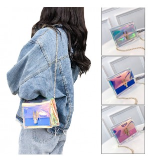 TonyaMall Rainbow Transparent Ladies Sling Bag