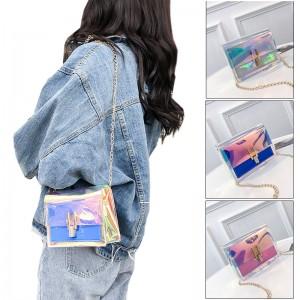 TonyaMall Rainbow Transparent Ladies Sling Bag
