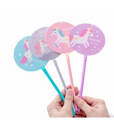 [MalaysiaReadyStock] Unicorn 2 in 1 Fan and Gel Pen
