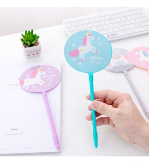 [MalaysiaReadyStock] Unicorn 2 in 1 Fan and Gel Pen