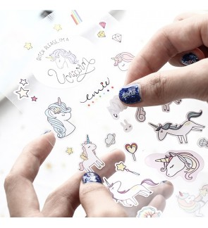 [MalaysiaReadyStock] Korean Design Unicorn Sticker for kids