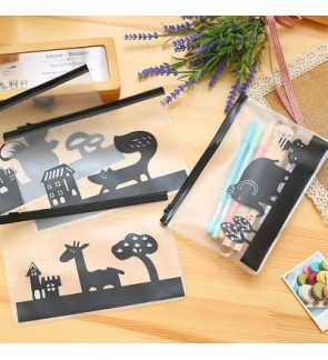 Animal PVC Transparent Pencil Case / Stationary Pouch