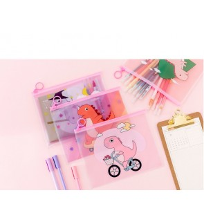 [MalaysiaReadyStock] Dinosaur Design Stationery Organizer Pouch / Pencil Case
