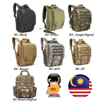 """High Grade Army Tactical 14"""" Laptop Backpack / Sling Bag"""