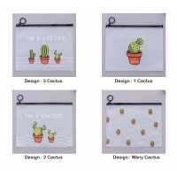 [MalaysiaReadyStock] Cactus Design Stationery Pouch / Make up Pouch