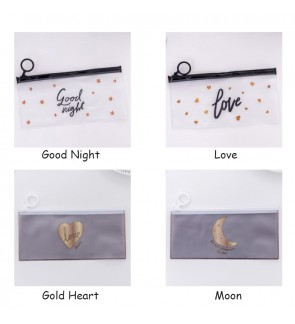 [ReadyStockInMsia] Transparent Stationery PVC Pencil Case / Stationery Pouch