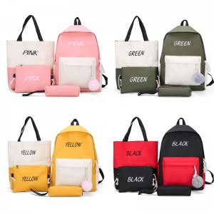 TonyaMall 4 in 1 School / College Backpack Tote Sling Bag and Pencil Case Set