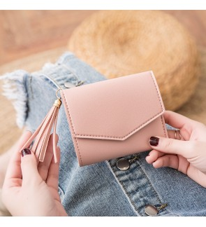 TonyaMall Korean Style Simple and Nice Ladies Slim Purse