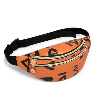 TonyaMall Double Zipper Ladies Chest Bag / Waist Pouch