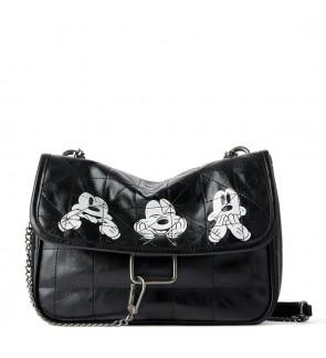 TonyaMall Soft PU Messanger Sling Bag