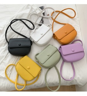 TonyaMall Candy Colour PU Sling Bag