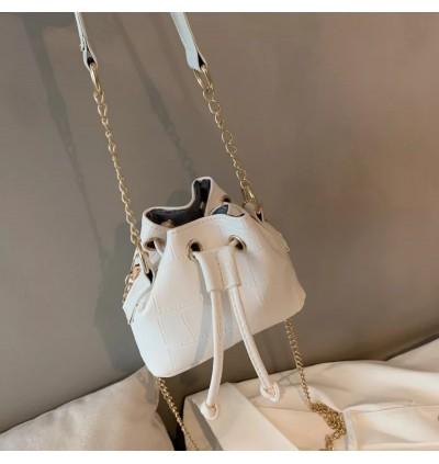 TonyaMall Mini Drawsting Croc Design Bucket Sling Bag