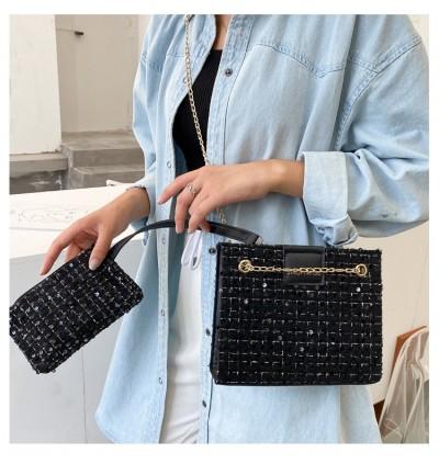 TonyaMall 2 in 1 Sequin Sling Bag Hand Bag