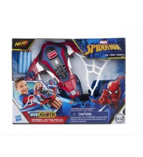 Hasbro Spider-Man Web Shots Spiderbolt NERF Powered Blaster Toy
