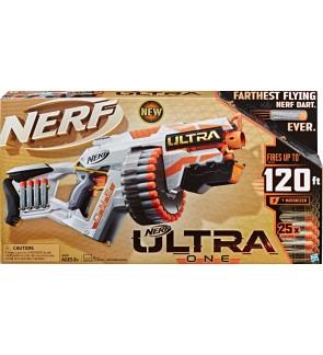 Nerf Original Ultra One Motorized Blaster -- 25 Nerf Ultra Darts -- Farthest Flying Nerf Darts Ever