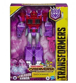 HASBRO Transformers Toys Cyberverse Ultimate Class Shockwave Action Figure