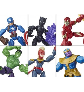 Hasbro Avengers Bend And Flex Figure Ironman Captain America Hulk Black Panther