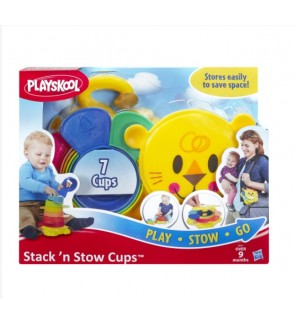 Hasbro Playskool Stack n' Stow Cups Pre School Early Educational Toys