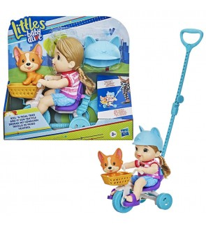 HASBRO Littles by Baby Alive, Roll 'n Pedal Trike Cute Girl Doll Toys